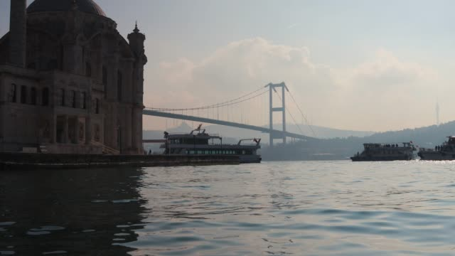 bosphorus istanbul - july 15 martyrs' bridge stock videos & royalty-free footage