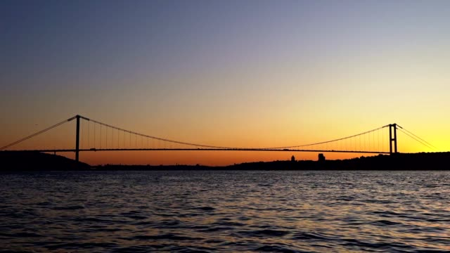 bosphorus - july 15 martyrs' bridge - i̇stanbul - july 15 martyrs' bridge stock videos & royalty-free footage