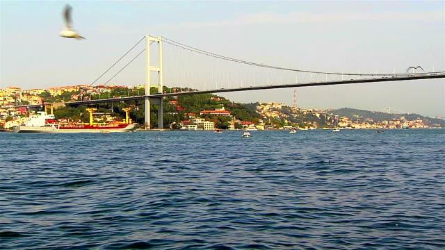 stockvideo's en b-roll-footage met bosporus - 15 juli martelaarsbrug