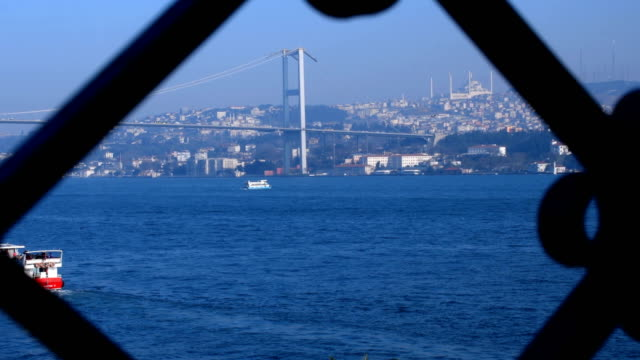 bosphorus, view of ciragan from bosphorus - marmara stock videos and b-roll footage