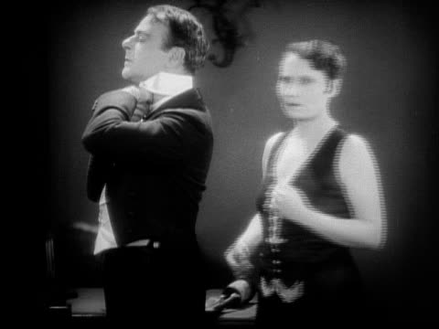 ms, b&w, boss firing singer and maid, 1920's  - cabaret stock videos & royalty-free footage