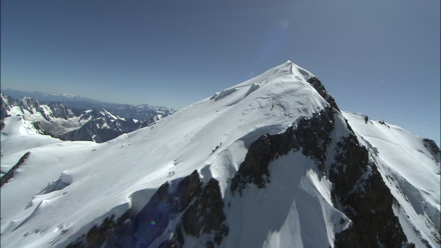 boss ridge and the summit of mont blanc - panoramic stock videos & royalty-free footage