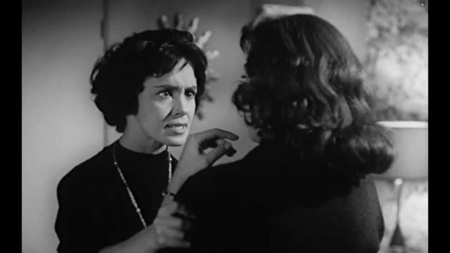 1959 Boss (Susan Cabot) slaps hysterical assistant across the face