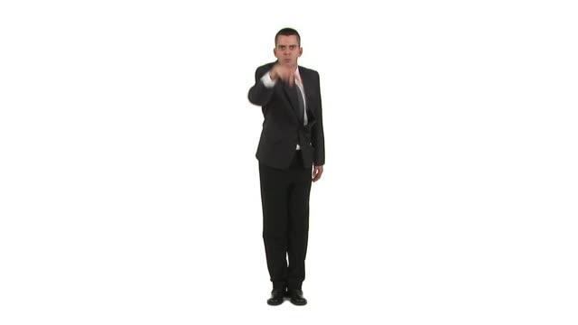 stockvideo's en b-roll-footage met hd: bossy businessman - overhemd en stropdas