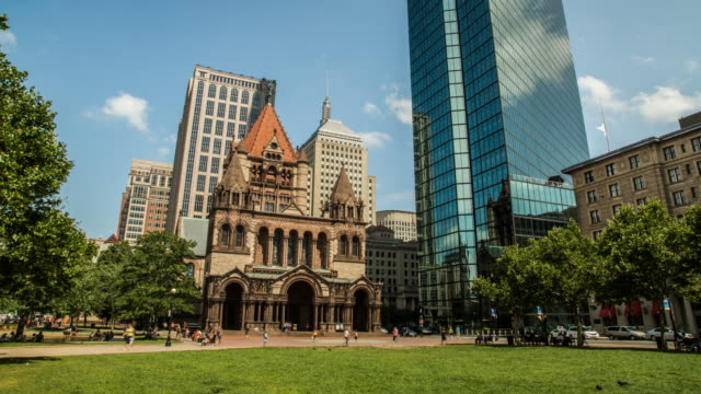 boston 3 copley square - back bay boston stock videos & royalty-free footage