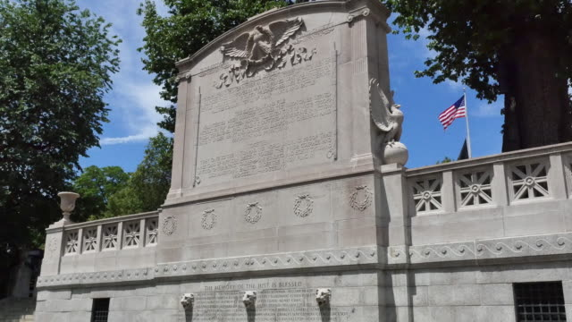 usa boston 54th massachusetts infantry memorial - 戦争記念碑点の映像素材/bロール