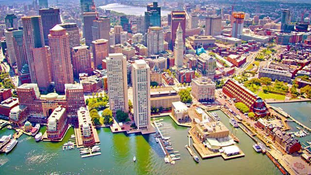 ボストン。ダウンタウンの空中写真 - 資本主義点の映像素材/bロール