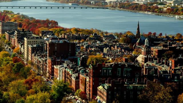 bostoner beacon hill und cambridge - boston massachusetts stock-videos und b-roll-filmmaterial