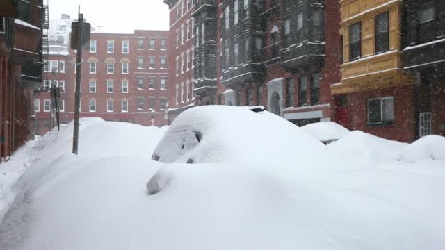 boston blizzard 2015. snowiest winter in boston's history - boston massachusetts stock videos and b-roll footage