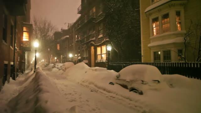 vídeos de stock e filmes b-roll de boston nevão de 2015. snowiest inverno em boston história de - nevão