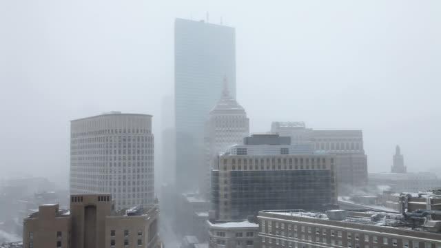boston blizzard of 2015 - back bay boston stock videos & royalty-free footage
