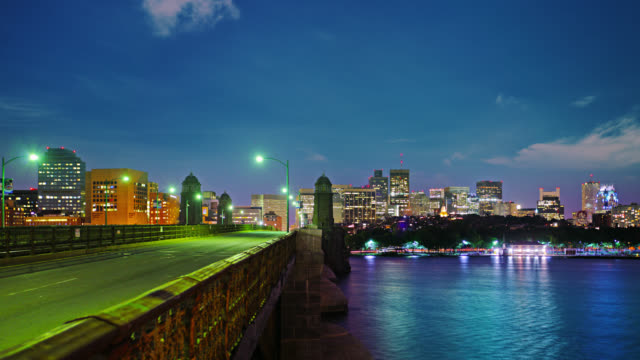 Boston. Bridge to city.