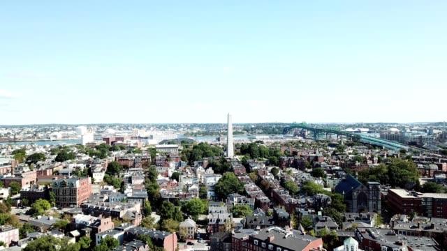 boston bunker hill monument - boston massachusetts stock videos & royalty-free footage