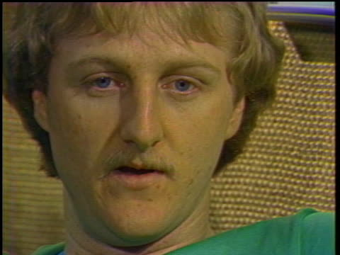 boston celtics basketball star larry bird discusses growing up in a competitive household with his siblings. - sport stock videos & royalty-free footage