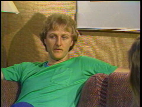boston celtics basketball star larry bird discusses the criticism he receives for his playing. - sport stock videos & royalty-free footage