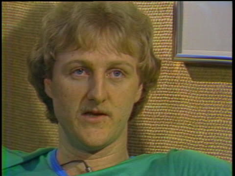 stockvideo's en b-roll-footage met boston celtics basketball star larry bird says he believes his dead father is still watching over him. - sport