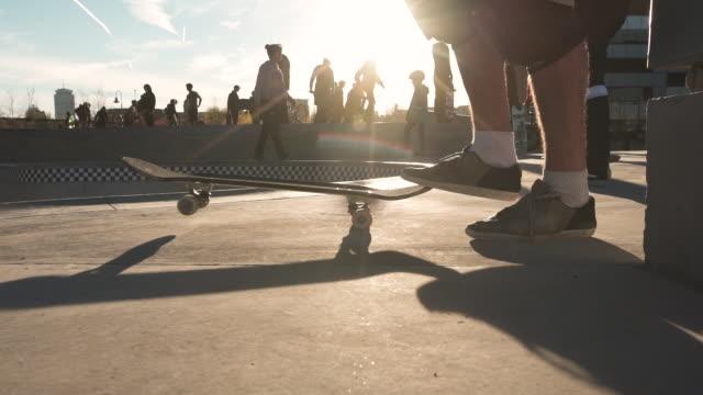vidéos et rushes de boston city skatepark - courbe