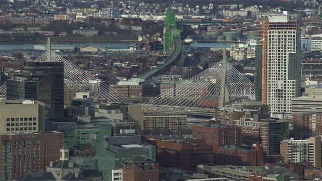 vídeos de stock, filmes e b-roll de boston cityscape - câmara parada