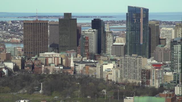 vídeos de stock, filmes e b-roll de boston cityscape - massachusetts