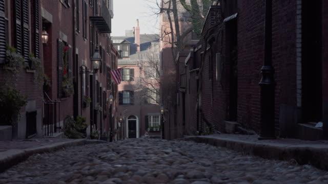 Boston cobblestone street