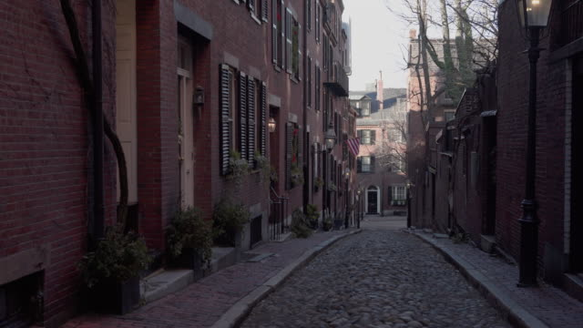 boston cobblestone street - cobblestone stock videos & royalty-free footage