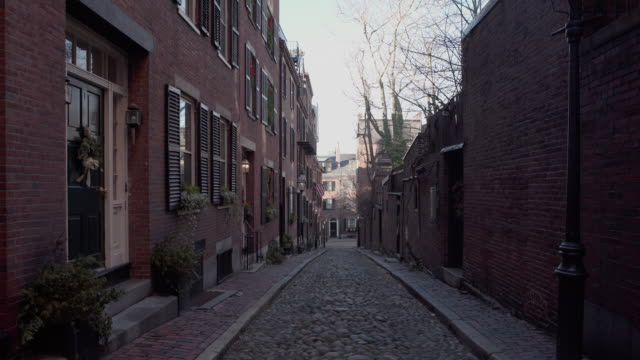 boston cobblestone street - cobblestone stock videos and b-roll footage