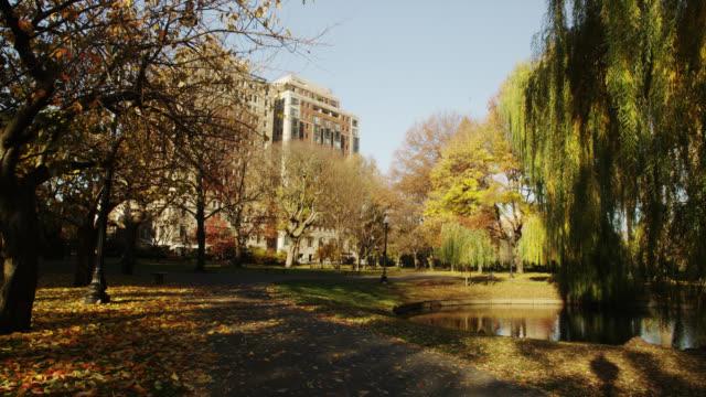 vídeos y material grabado en eventos de stock de boston common and public garden - parque ciudad