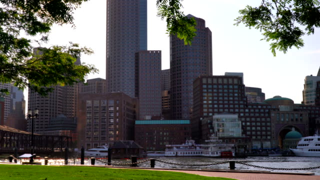 boston downtown - boston massachusetts bildbanksvideor och videomaterial från bakom kulisserna