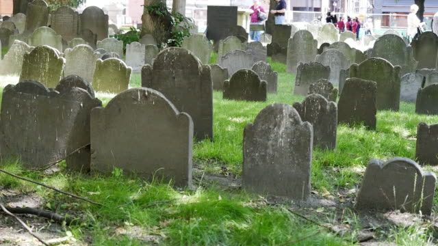 usa boston granary burying grounds tombstones - weathered stock videos & royalty-free footage