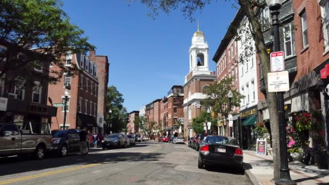 usa boston hanover street north end - マサチューセッツ州 ボストン点の映像素材/bロール
