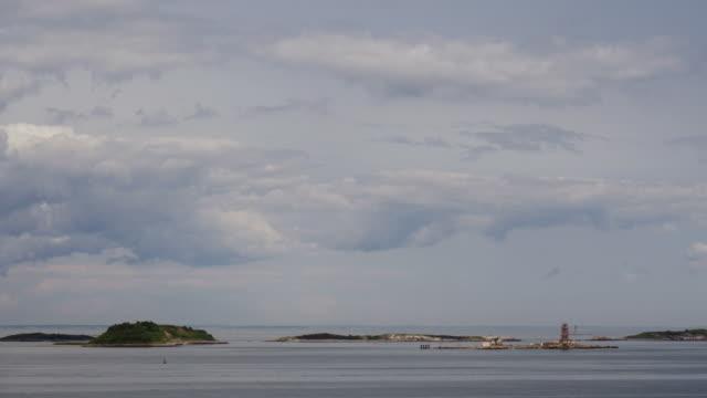 boston harbor island - tl wide shot of brewster islands - spoonfilm stock-videos und b-roll-filmmaterial