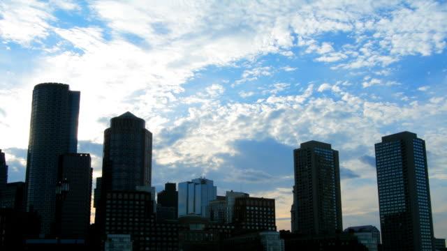 Boston Harbor Skyline Time Lapse HD 1080p24fps