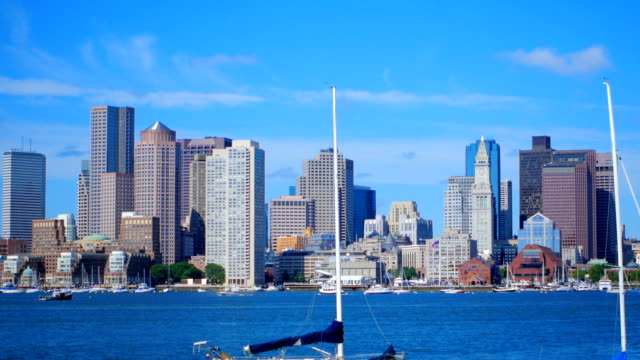boston harbor - back bay boston stock videos & royalty-free footage