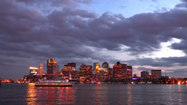 boston harbor - boston massachusetts video stock e b–roll