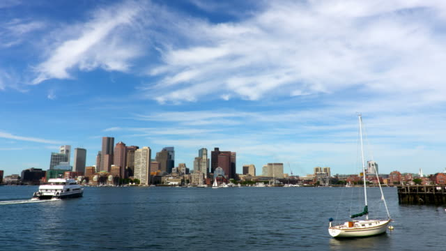 boston harbor - boston stock videos and b-roll footage