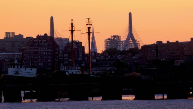 boston, ma harbor sunset - back bay boston stock videos & royalty-free footage