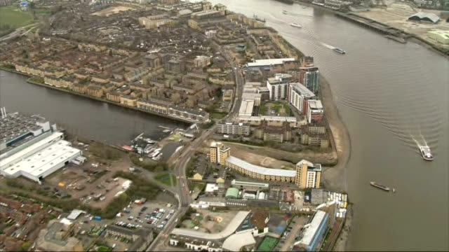 security review for london marathon aerials marathon route air views london marathon route includes canary wharf / isle of dogs / city of london over... - charing cross stock videos and b-roll footage