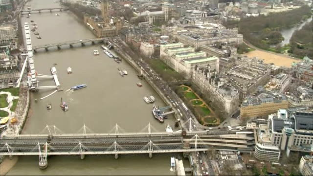 security review for london marathon aerials marathon route air views london marathon route includes st paul's cathedral / victoria embankment /... - charing cross stock videos and b-roll footage