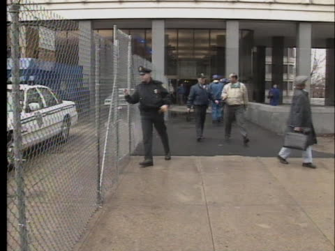 boston office workers evacuate a federal office building as as a precaution following the oklahoma city bombing. - oklahoma city bombing stock videos & royalty-free footage