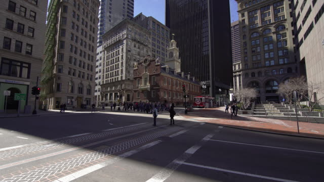 boston old state house - boston massachusetts stock videos & royalty-free footage