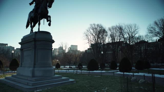 boston public garden statue - boston massachusetts stock videos & royalty-free footage