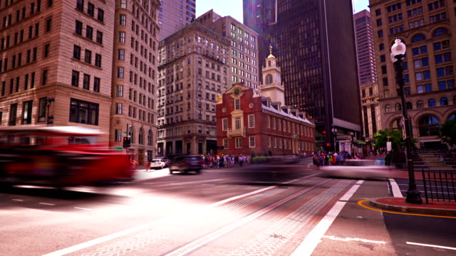 boston retro and business district - tall high stock videos and b-roll footage
