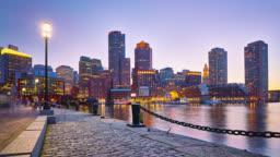 Boston skyline from Fan Pier Park