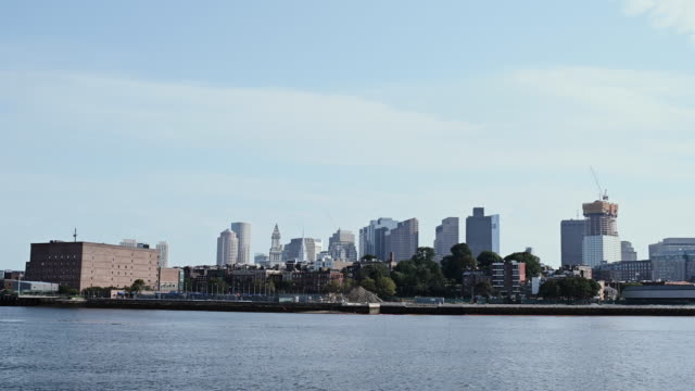 boston skyline - チャールズ川点の映像素材/bロール