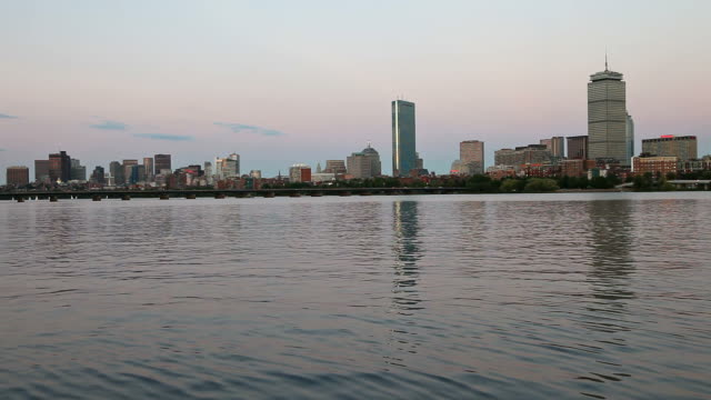 skyline von boston - back bay stock-videos und b-roll-filmmaterial