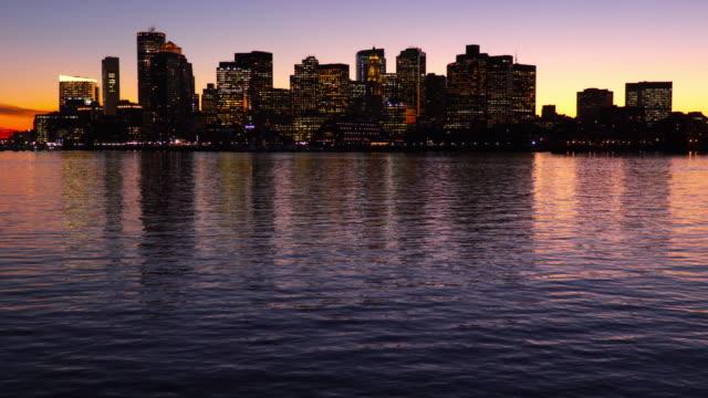 boston skyline - custom house tower stock videos & royalty-free footage