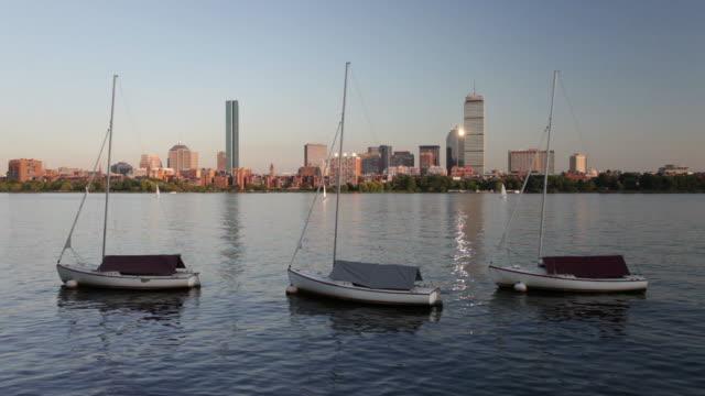 boston sunset - back bay boston stock videos & royalty-free footage