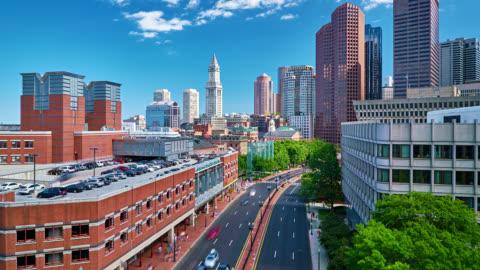 boston typical cityscape - boston massachusetts stock videos & royalty-free footage