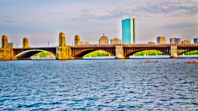 vídeos y material grabado en eventos de stock de de boston. - río charles