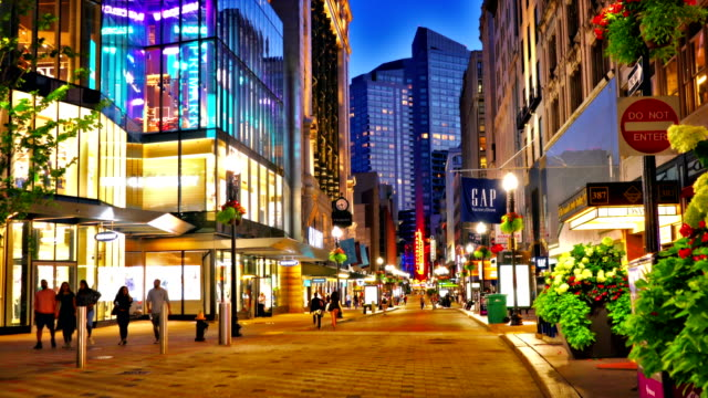 boston. washington fashion street - shopping centre stock videos & royalty-free footage